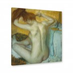 Edgar Degas - Frau bei ihrer Toilette
