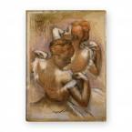 Edgar Degas - Zwei Tänzerinnen richten ihre Schulterträger
