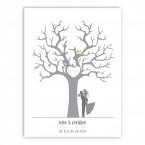 Leinwandbild zur Hochzeit Hochzeitsbaum | individualisierbar