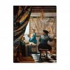 die Malkunst von Jan Vermeer als Leinwandbild