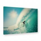 Leinwandbild - Strand - Sonne - Surfboard - Sommer