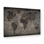 Leinwandbild - Kontinente - Geographie - Geography - Globus
