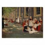 Leinwandbild Max Liebermann Freistunde im Amsterdamer Waisenhaus