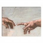 Leinwandbild Max Liebermann die Erschaffung des Adam