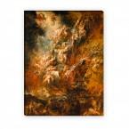 Leinwandbild der Höllensturz der Verdammten