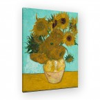 Vase mit Sonnenblumen von Van Gogh als Leinwandbild