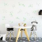 Wandsticker Set XL - Pastell Punkte Grün