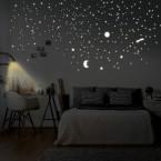 Leuchtaufkleber Sonne, Mond und Sterne