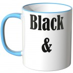 JUNIWORDS Tasse Black and White