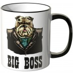 JUNIWORDS Tasse Büro Hund Big Boss