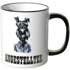 JUNIWORDS Tasse Büro Hund Angestellter