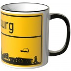 JUNIWORDS Tasse Ortsschild Skyline Augsburg