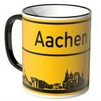 JUNIWORDS Tasse Ortsschild Skyline Aachen