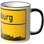 JUNIWORDS Tasse Ortsschild Skyline Regensburg