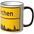 JUNIWORDS Tasse Ortsschild Skyline Gelsenkirchen