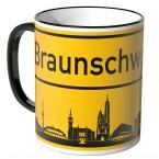JUNIWORDS Tasse Ortsschild Skyline Braunschweig