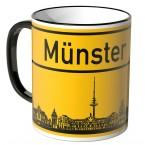 JUNIWORDS Tasse Ortsschild Skyline Münster