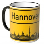 JUNIWORDS Tasse Ortsschild Skyline Hannover