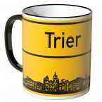 JUNIWORDS Tasse Ortsschild Skyline Trier
