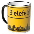 JUNIWORDS Tasse Ortsschild Skyline Bielefeld