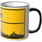 JUNIWORDS Tasse Ortsschild Skyline Rom