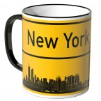JUNIWORDS Tasse Ortsschild Skyline New York