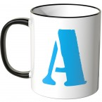 JUNIWORDS Tasse Buchstabe A