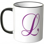 JUNIWORDS Tasse Buchstabe L