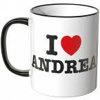 JUNIWORDS Tasse I LOVE ANDREA