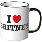 JUNIWORDS Tasse I LOVE BRITNEY