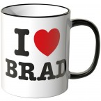 JUNIWORDS Tasse I LOVE BRAD