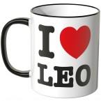JUNIWORDS Tasse I LOVE LEO