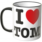 JUNIWORDS Tasse I LOVE TOM