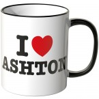JUNIWORDS Tasse I LOVE ASHTON