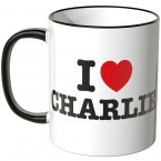 JUNIWORDS Tasse I LOVE CHARLIE