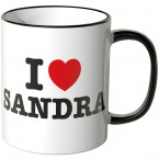 JUNIWORDS Tasse I LOVE SANDRA
