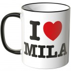 JUNIWORDS Tasse I LOVE MILA