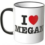JUNIWORDS Tasse I LOVE MEGAN