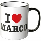 JUNIWORDS Tasse I LOVE MARCO