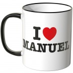 JUNIWORDS Tasse I LOVE MANUEL