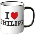 JUNIWORDS Tasse I LOVE PHILIPP