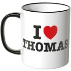 JUNIWORDS Tasse I LOVE THOMAS