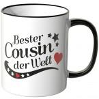 JUNIWORDS Tasse Bester Cousin der Welt