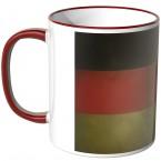 Tasse Deutschlandflagge Fußball