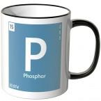 """JUNIWORDS Tasse Element Phosphor """"P"""""""