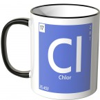 "JUNIWORDS Tasse Element Chlor ""CI"""
