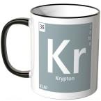 """JUNIWORDS Tasse Element Krypton """"Kr"""""""