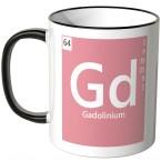 "JUNIWORDS Tasse Element Gadolinium ""Gd"""