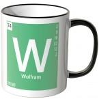 """JUNIWORDS Tasse Element Wolfram """"W"""""""