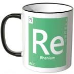 "JUNIWORDS Tasse Element Rhenium ""Re"""
